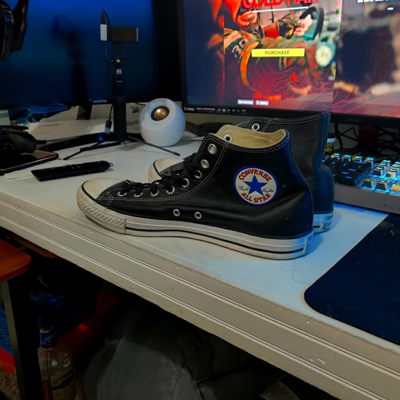 Leather converse chuck taylor black